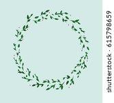 illustration of a cute green... | Shutterstock . vector #615798659