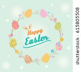 easter card decorated with... | Shutterstock .eps vector #615805508