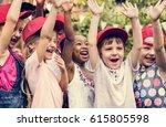 group of kids school friends... | Shutterstock . vector #615805598