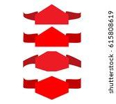 banner red set. emblem modern... | Shutterstock .eps vector #615808619