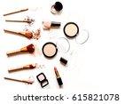 decorative cosmetics nude on... | Shutterstock . vector #615821078