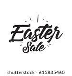 easter. typography design. hand ... | Shutterstock .eps vector #615835460