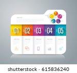 folder infographics design... | Shutterstock .eps vector #615836240
