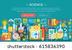 flat design concept of science. ... | Shutterstock .eps vector #615836390