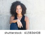 beautiful african american... | Shutterstock . vector #615836438