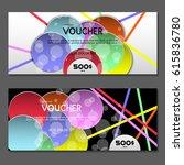 gift voucher. vector ... | Shutterstock .eps vector #615836780
