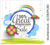 creative sale banner or sale... | Shutterstock .eps vector #615839180