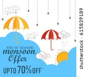 creative sale banner or sale... | Shutterstock .eps vector #615839189