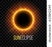 total eclipse of the sun with... | Shutterstock .eps vector #615842249