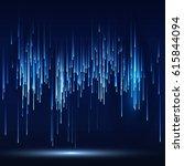 sci fi abstract matrix... | Shutterstock . vector #615844094