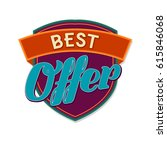 best offer label | Shutterstock .eps vector #615846068