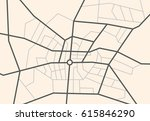 streets on the city map  ...   Shutterstock .eps vector #615846290