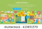 web design flat concept.... | Shutterstock .eps vector #615851570