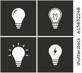 lamp vector icons set.... | Shutterstock .eps vector #615852248