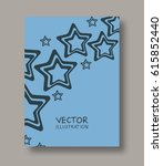 geometric stars abstract flyers.... | Shutterstock .eps vector #615852440