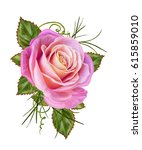 floral background. a bud of a... | Shutterstock . vector #615859010