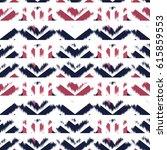 ikat seamless pattern design...   Shutterstock . vector #615859553