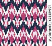 ikat seamless pattern design... | Shutterstock . vector #615859574