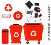 sorting of waste and recycling  ...   Shutterstock .eps vector #615866684