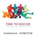 football  soccer  colorful... | Shutterstock .eps vector #615867218