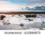 large pieces of the iceberg.... | Shutterstock . vector #615884870