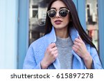ultra fashion concept. young... | Shutterstock . vector #615897278