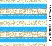 seamless vector pattern marine... | Shutterstock .eps vector #615901010