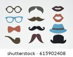 men hipster icon collection set ... | Shutterstock . vector #615902408