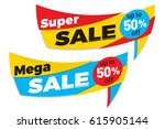 sale label price tag banner... | Shutterstock .eps vector #615905144