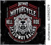 motorcycle tee shirt graphic... | Shutterstock .eps vector #615905279