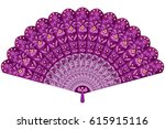 Hand Fan In Oriental Style...