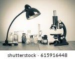 old laboratory glass  retro...   Shutterstock . vector #615916448