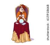 cute cartoon circus fortune...   Shutterstock .eps vector #615918668