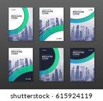 brochure cover design templates ... | Shutterstock .eps vector #615924119
