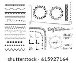 big set of decorative elements  ... | Shutterstock .eps vector #615927164