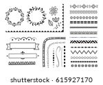 big set of decorative elements  ... | Shutterstock .eps vector #615927170