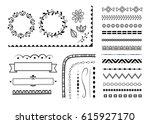 big set of decorative elements  ... | Shutterstock .eps vector #615927170
