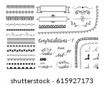 big set of decorative elements  ... | Shutterstock .eps vector #615927173