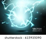 electricity ring element that... | Shutterstock .eps vector #615935090