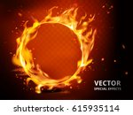 flaming hoop element that can... | Shutterstock .eps vector #615935114