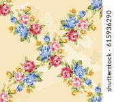 seamless floral pattern with... | Shutterstock .eps vector #615936290