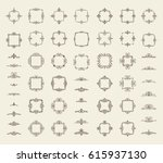 circle and square wicker... | Shutterstock .eps vector #615937130
