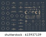 circle and square wicker... | Shutterstock .eps vector #615937139