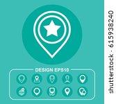 marker icon vector flat design...