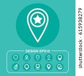 point icon vector flat design... | Shutterstock .eps vector #615938279