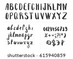 hand drawn brush letters.... | Shutterstock .eps vector #615940859