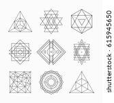 sacred geometry. alchemy ... | Shutterstock .eps vector #615945650