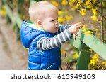 little two years old boy... | Shutterstock . vector #615949103
