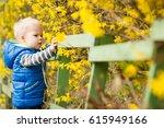 little two years old boy... | Shutterstock . vector #615949166