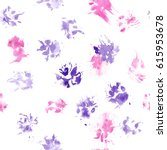 animal seamless pattern with... | Shutterstock . vector #615953678